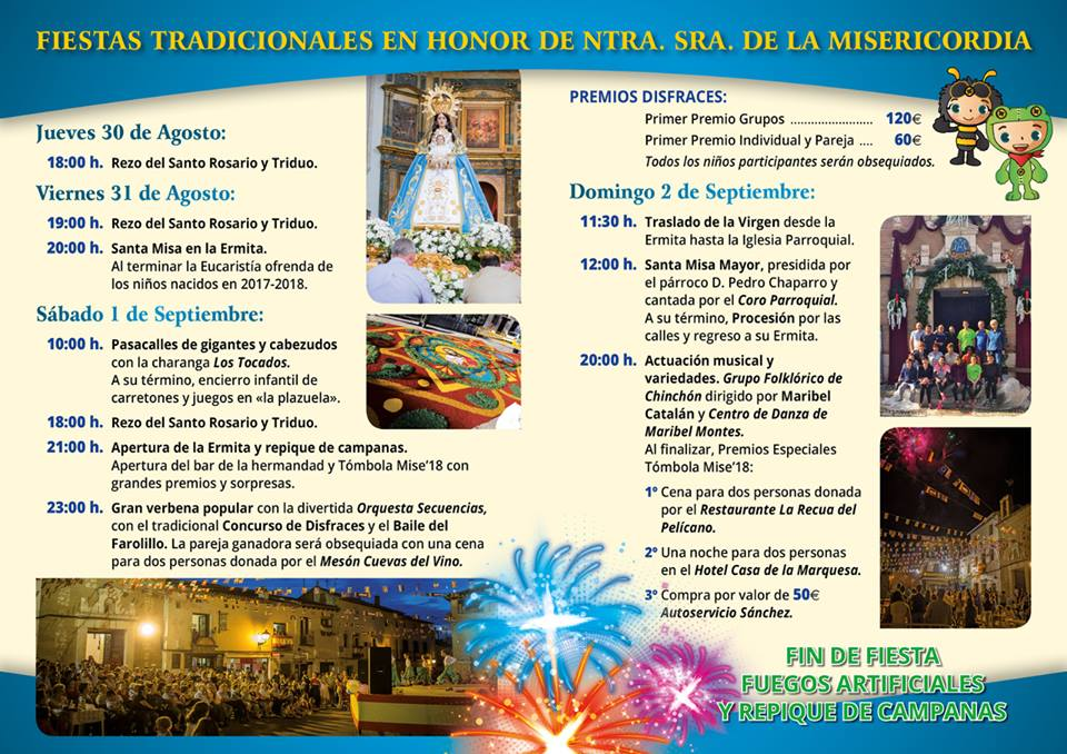 Fiestas de Nuestra Señora de la Misericordia de Chinchón 2018