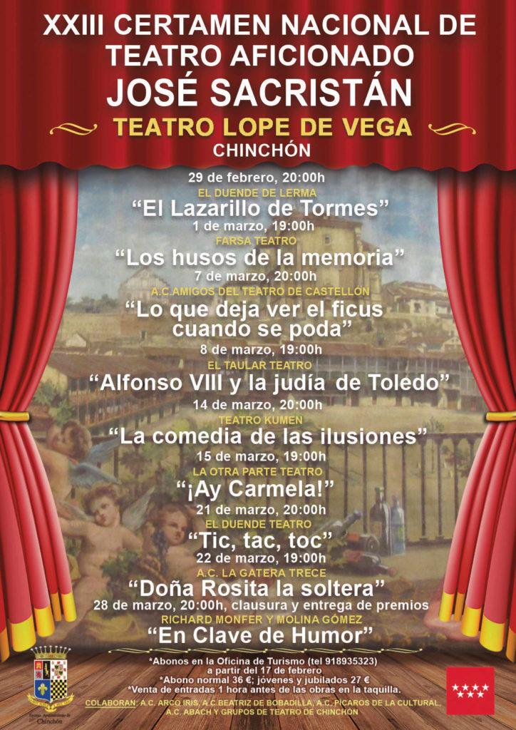 XXIII Certamen de Teatro Chinchón Jose Sacristan